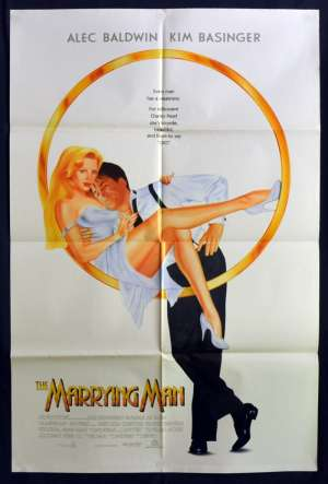 The Marrying Man 1991 One Sheet USA Movie Poster Aka Too Hot To Handle Alec Baldwin Kim Basinger
