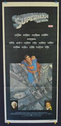 Superman Movie Poster Original Daybill 1978 Christopher Reeve Marlon Brando