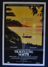Travelling North 1987 One Sheet movie poster Leo McKern Julia Blake David Williamson