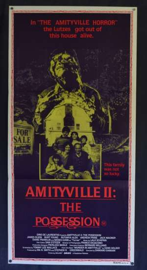 Amityville 2 The Possession Poster Original Daybill 1982 Burt Young James Olson