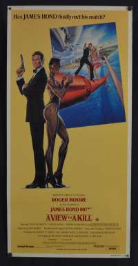 A View To A Kill Daybill Poster Original 1985 James Bond 007 Roger Moore