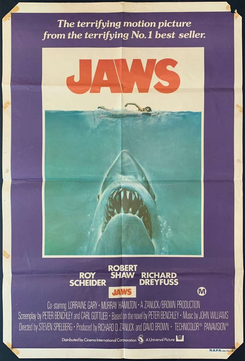 All About Movies - Jaws Movie Poster Original One Sheet ...