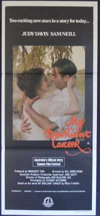 My Brilliant Career Poster Original Daybill 1979 Judy Davis Sam Neill