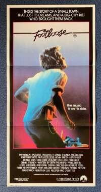 Footloose 1984 Daybill movie poster Kevin Bacon Lori Singer