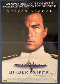 Under Siege Poster Original One Sheet 1992 Steven Seagal Tommy Lee Jones