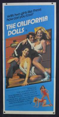 The California Dolls 1981 Daybill movie poster All The Marbles Peter Falk Female Wrestling