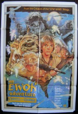 Caravan Of Courage The Ewok Adventure Poster Original One Sheet Star Wars