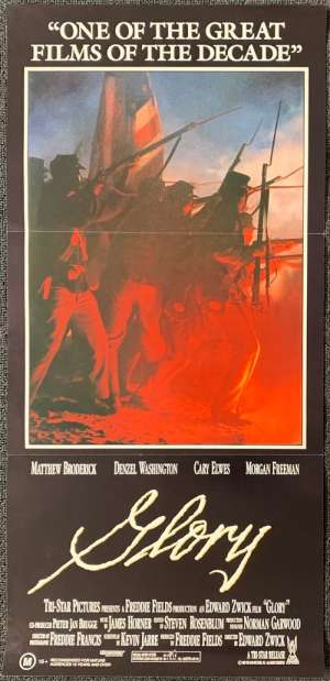 Glory Poster Original Daybill 1989 Matthew Broderick Denzel Washington Civil War