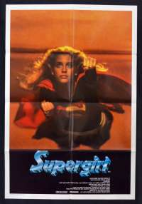 Supergirl Movie Poster Original One Sheet 1984 Helen Slater Faye Dunaway