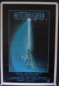 Return Of The Jedi Movie Poster Original One Sheet 1983 Advance Saber Art