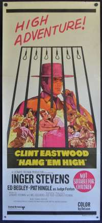 Hang 'Em High Poster Original Daybill 1968 Clint Eastwood Ben Johnson