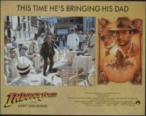Indiana Jones And The Last Crusade Lobby Card No. 2 Harrison Ford Sean Connery