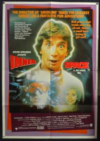 Innerspace 1987 One Sheet movie poster Dennis Quaid Martin Short Sci-Fi