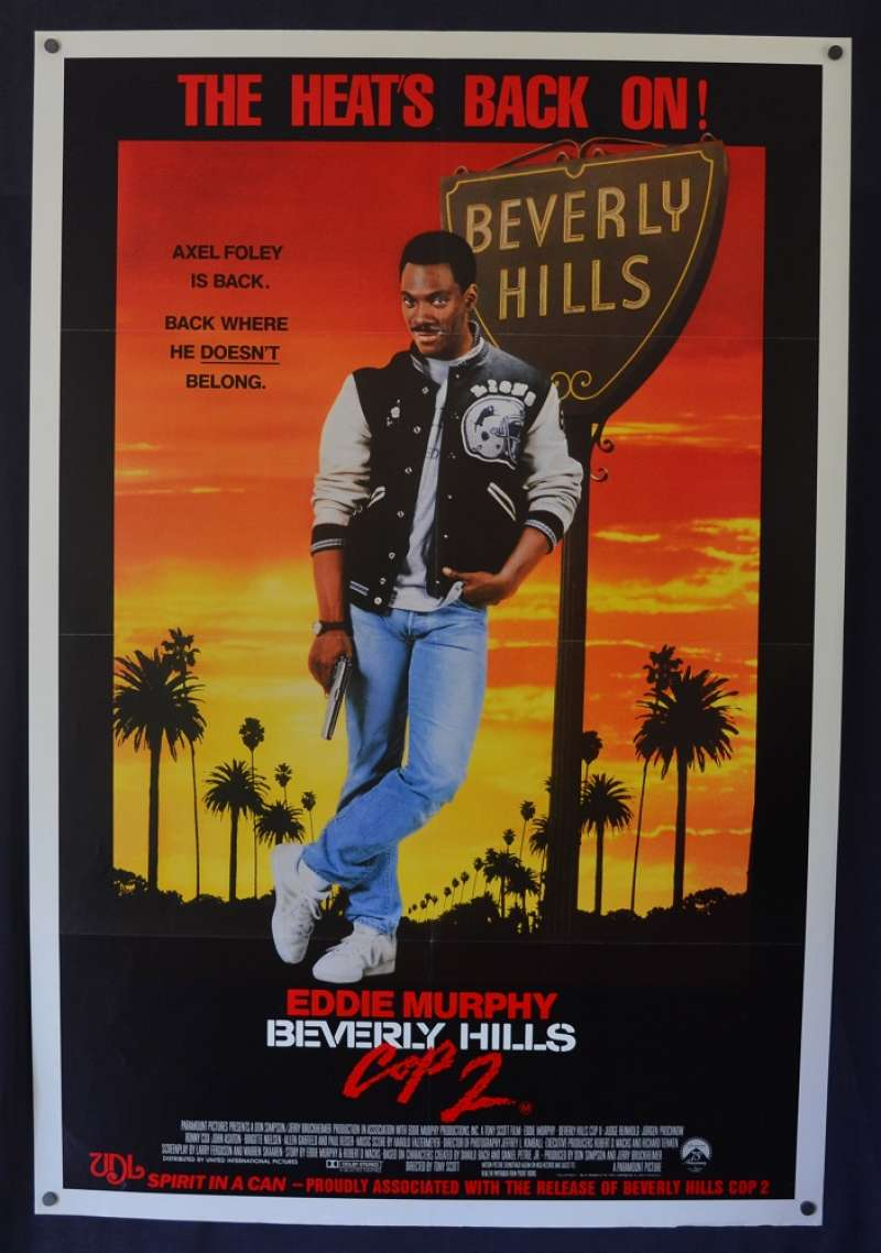 All About Movies Beverly Hills Cop 2 1987 One Sheet Movie Poster Detective Eddie Murphy