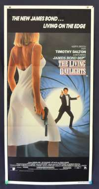 The Living Daylights 1987 Timothy Dalton 007 Australian Daybill movie poster