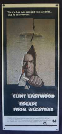 Escape From Alcatraz 1979 movie poster Clint Eastwood Daybill