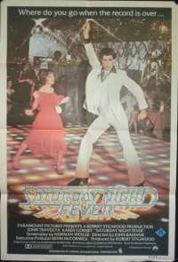 Saturday Night Fever 1977 One Sheet movie poster R rated John Travolta Bee Gees
