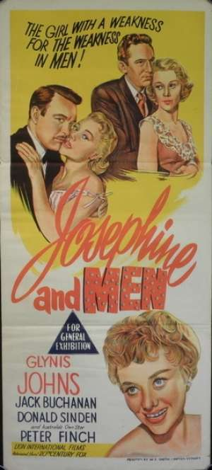 Josephine And Men Daybill Movie Poster Glynis Johns