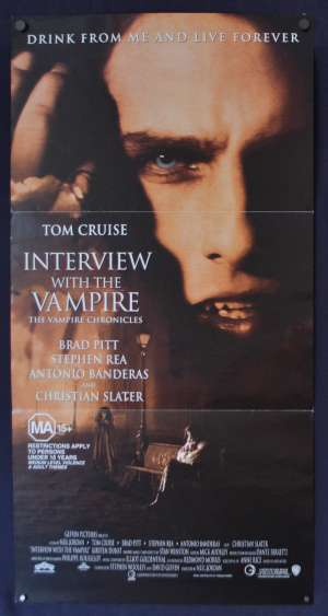 Interview With The Vampire Poster Original Daybill 1994 Tom Cruise Brad Pitt