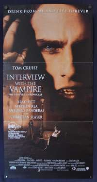 Interview With A Vampire poster Daybill Tom Cruise Brad Pitt Kirsten Dunst