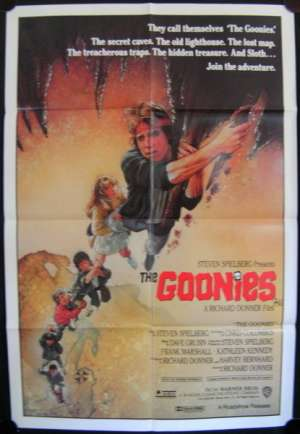 The Goonies Poster Original One Sheet 1985 Sean Astin Drew Struzan Art