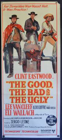 The Good The Bad And The Ugly Poster Original Daybill FIRST release Clint Eastwood
