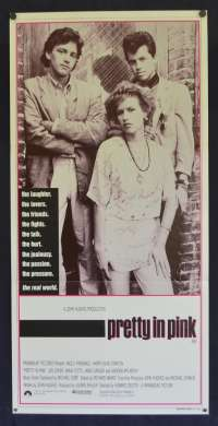 Pretty In Pink Poster Original Daybill 1986 Molly Ringwald John Hughes