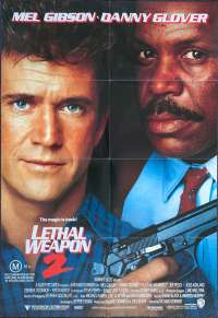 Lethal Weapon 2 Movie Poster Original One Sheet 1989 Mel Gibson Danny Glover