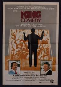 King Of Comedy Movie Poster One Sheet Robert De Niro Jerry Lewis