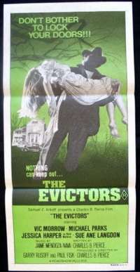 The Evictors 1979 Daybill movie poster Horror Vic Morrow