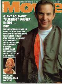 Dances With Wolves Movie Magazine 1991 Number 2 Kevin Costner