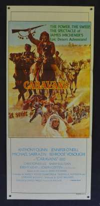 Caravans 1978 Daybill movie poster Anthony Quinn Christopher Lee