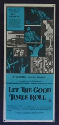Let The Good Times Roll Poster Daybill Chuck Berry Bo Diddley Little Richard