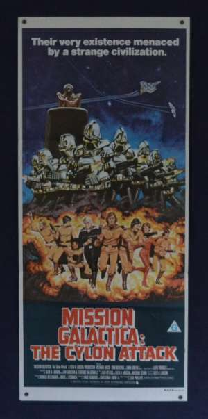 Mission Galactica: The Cylon Attack 1980 Daybill movie poster Richard Hatch