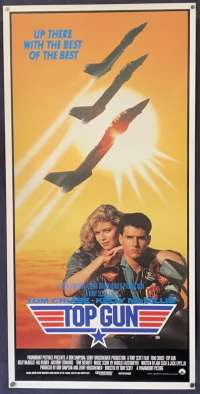 Top Gun Poster Original Movie Daybill Rolled 1986 Tom Cruise Tom Cat Jets