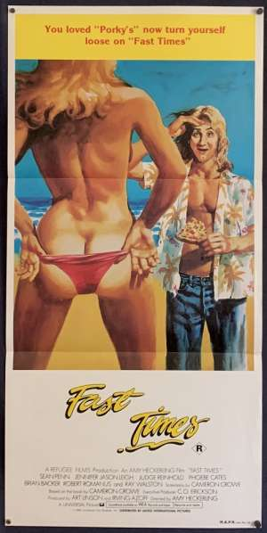Fast Times Daybill Poster 1982 Sean Penn Aka Fast times At Ridgemont High