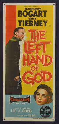 The Left Hand Of God 1955 Daybill movie poster Humprey Bogart Gene Tierney
