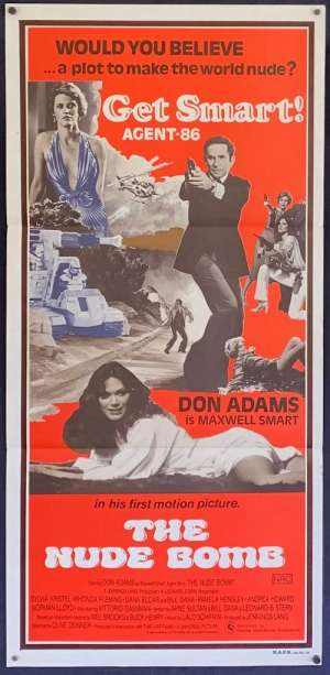 The Nude Bomb movie poster Daybill Don Adams Get Smart