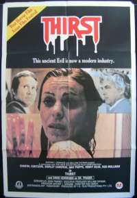 Thirst 1979 One Sheet movie poster Contouri Hemmings Phipps Horror Vampires