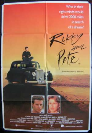 Rikky And Pete 1988 movie poster Bill Hunter Nadia Tass One Sheet