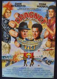 Dragnet Poster RARE USA One Sheet Original 1987 Tom Hanks Dan Aykroyd Cops