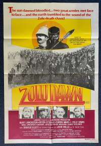 Zulu Dawn Poster Original One Sheet 1979 Burt Lancaster Peter O'Toole