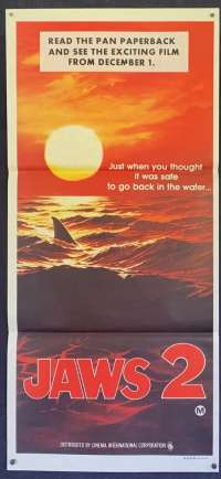 Jaws 2 Poster Roy Scheider Daybill Movie poster