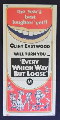 Every Which Way But Loose poster Clint Eastwood alternate art Daybill