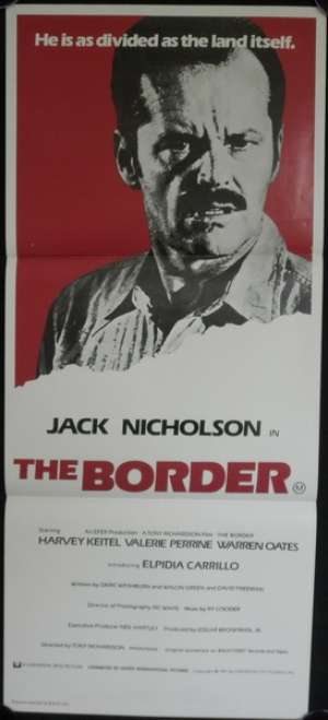 The Border Daybill Movie Poster Jack Nicholson