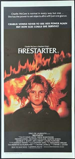 Firestarter Poster Original Daybill 1984 Drew Barrymore Stephen King Horror