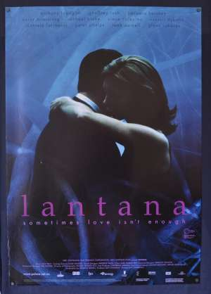 Lantana 2001 One Sheet movie poster Rolled Anthony Lapaglia Geoffrey Rush