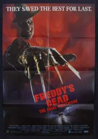 Freddy's Dead The Final Nightmare Poster Original One Sheet 1991 Robert Englund