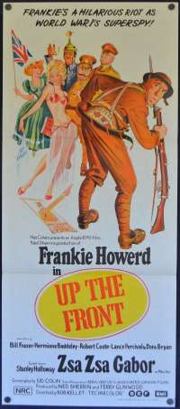 Up The Front Daybill Poster 1972 Frankie Howerd Zsa Zsa Gabor