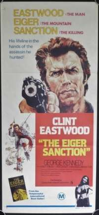 The Eiger Sanction 1975 Daybill movie poster Clint Eastwood George Kennedy Climbing